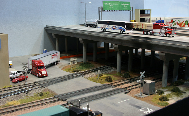 Volvo Trucks Of Texas >> Railroad Crossing & Highway Overpass