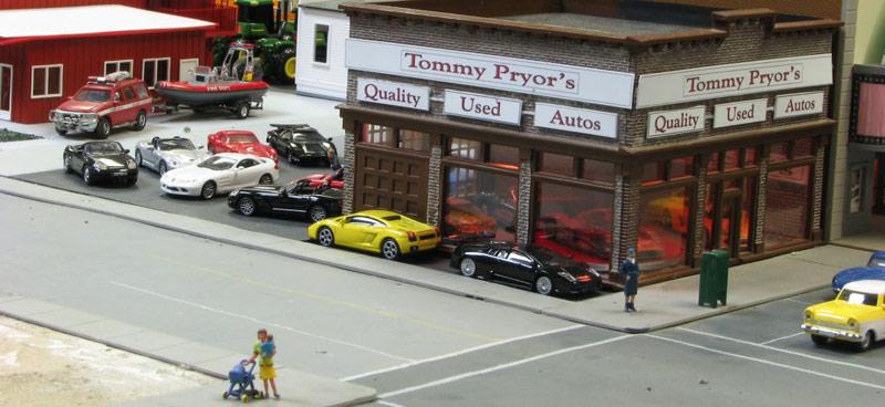 Used Car Lot Diorama