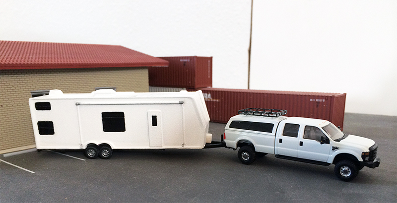Ford F 350 Pickup Truck Amp Camping Trailer