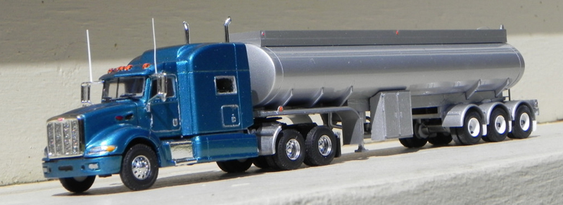 Tractor With Tanker : Peterbilt truck tractor tri axle fuel tank trailer