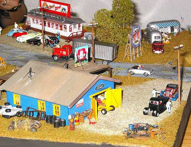 speed shop garage diorama. Black Bedroom Furniture Sets. Home Design Ideas