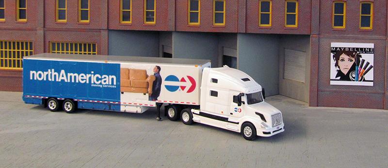 North American Van Lines Volvo VNL780 Truck Tractor & 48' Moving Van